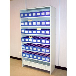 Dental Record Open Shelving Bay H227.5cm  x W110cm x D40cm